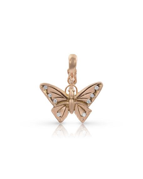 Dominique Cohen 18k Rose Gold Diamond Butterfly Pendant