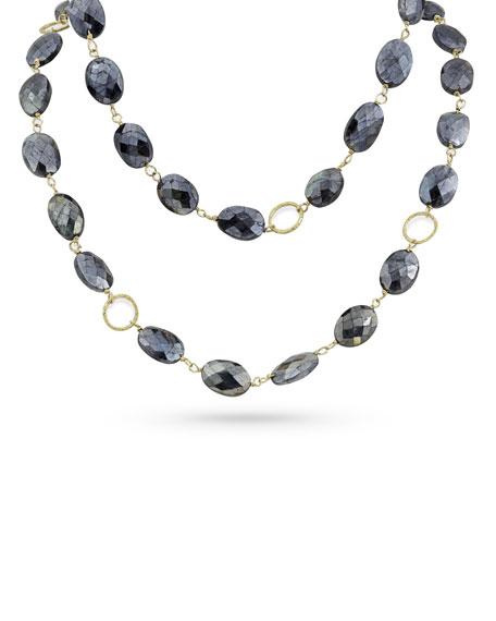 """Dominique Cohen 18k Gold Dark Labradorite Long Necklace, 42""""L"""