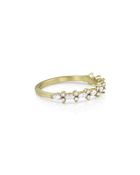 Dominique Cohen 18k Gold Diamond Crown Stack Ring, Size 7