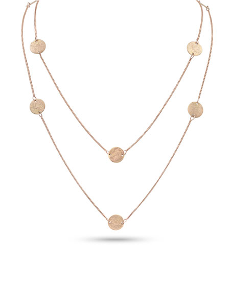 "Dominique Cohen Griffin Coin 18k Rose Gold Long Necklace, 42""L"