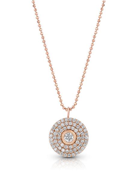 Dominique Cohen 18k Rose Gold Mosaic Diamond Pendant Necklace (Medium)