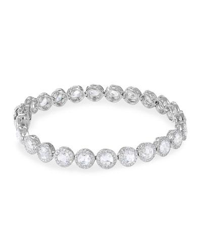 18k White Gold Scallop Diamond Tennis Bracelet