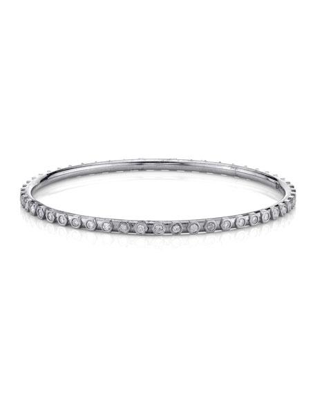 Sheryl Lowe Raised Diamond Bezel Bangle