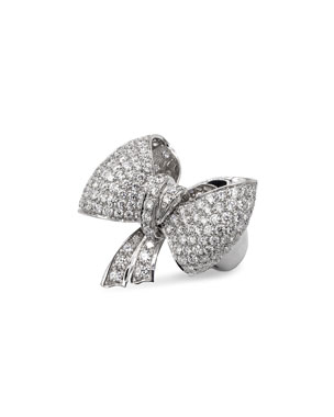 a53c417f5f84 Leo Pizzo Iconic Bow 18k White Gold Diamond Ring