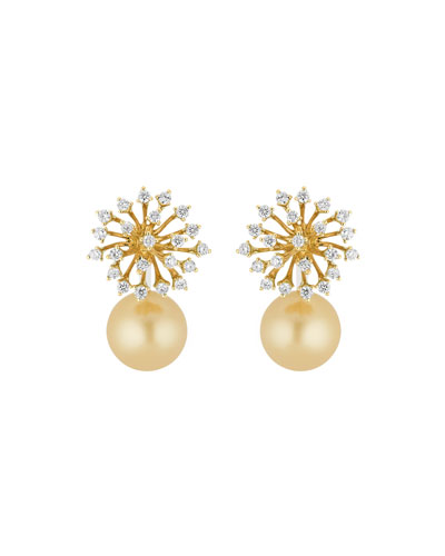 Luminus 18k Gold Diamond & Pearl Drop Earrings