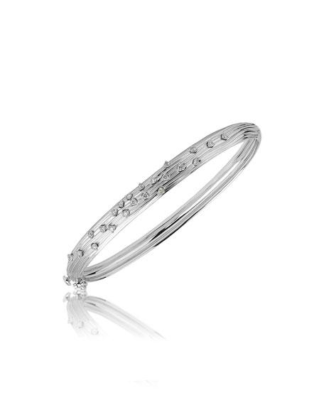 Hueb Plisse 18k White Gold Pleated Diamond Bracelet