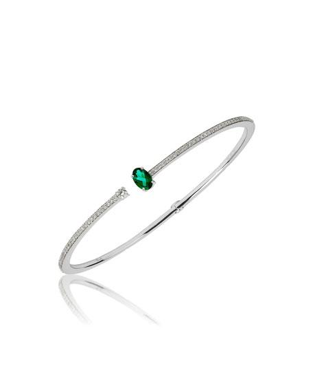 Hueb Spectrum 18k White Gold Emerald & Diamond Bracelet