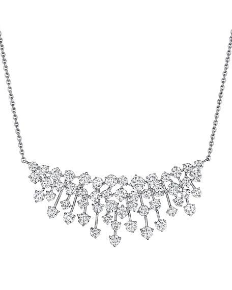 Hueb Luminus 18k White Gold Diamond Bib Necklace