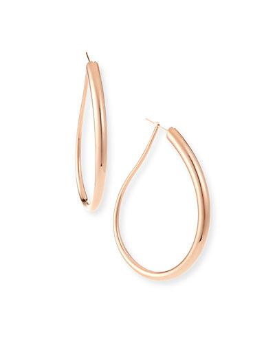18k Rose Gold Electroform Fancy Oblong Earrings