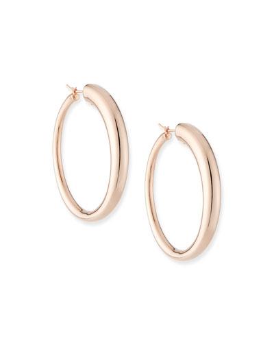 Millennia 18k Rose Gold Electroform Graduated Hoop Earrings