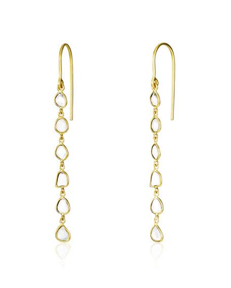 Legend Amrapali Polki Diamond Slice Linear Drop Earrings
