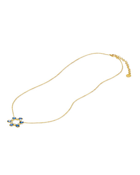 Legend Amrapali Rashmika 18k Blue Sapphire Circle Necklace w/ Diamonds