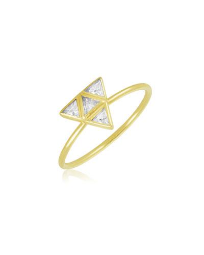 Rasayana Pyramid Sapphire Stack Ring, Size 6