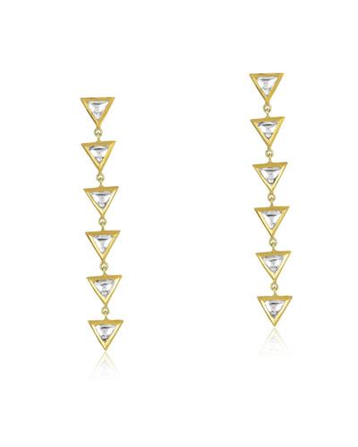 Kundan Vintage Triangle Diamond Drop Earrings