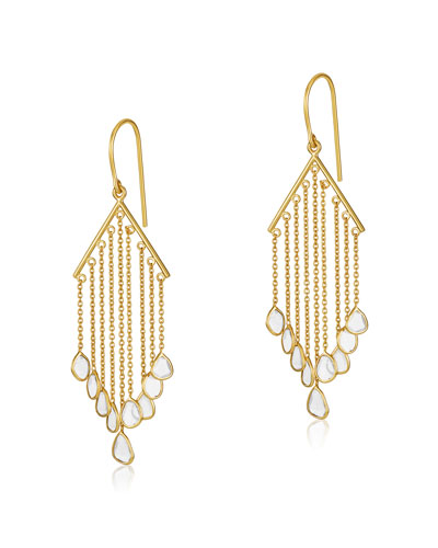 Polki Diamond Slice V-Bar Drop Earrings