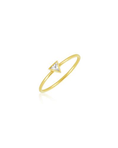 Rasayana Triangle Sapphire Stack Ring, Size 7