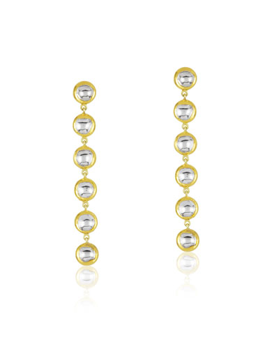Kundan Vintage Diamond Round Linear Earrings in 18k Gold