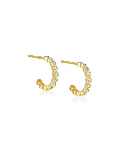 Tarakini Mini Diamond Hoop Earrings