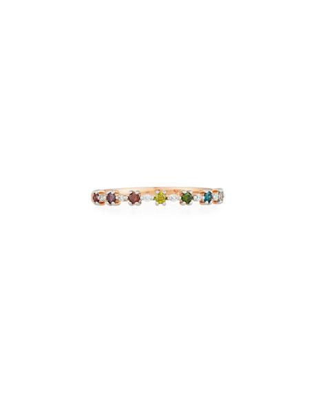 Stevie Wren 14k Multicolor Diamond Flowerette Stacking Ring, Size 6.5