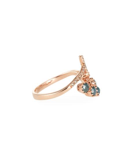 Stevie Wren 14k Rose Gold Diamond Cross Wrap Ring, Size 7