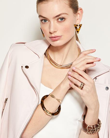 Alberto Milani Tubogas 18k Gold Tricolor Layered Necklace w/ Diamonds