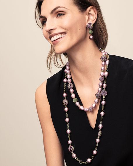 Margot McKinney Jewelry One-of-a-Kind 18k Pink Pearl & Mixed-Stone Drop Earrings