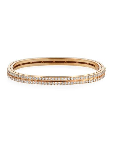 Portofino 18k Rose Gold Diamond 2-Row Bangle