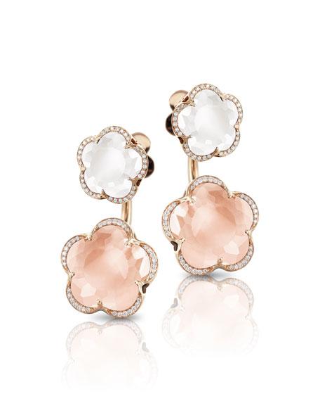 Pasquale Bruni Bon Ton Goddesses 18k Rose Gold Quartz Earring Jackets