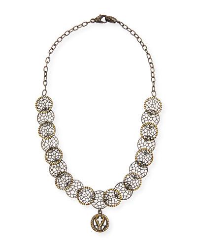 18k Lacy Choker Necklace w/ Diamonds