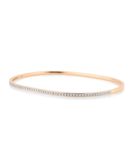 GINETTE NY TV 18k Rose Gold Diamond Bangle Bracelet