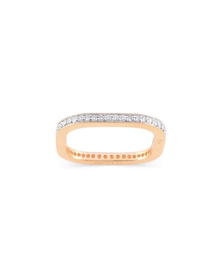 GINETTE NY TV 18k Rose Gold Diamond Ring, Size 6