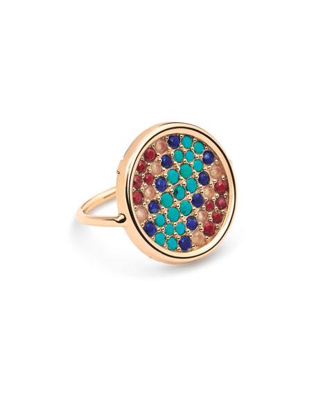 GINETTE NY Wise 18k Rose Gold Multi-Stone Ring, Size 6