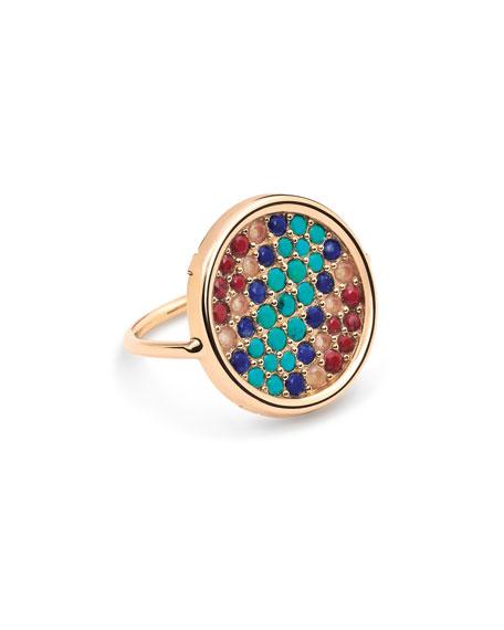 GINETTE NY 18k Rose Gold Multi-Stone Ring, Size 7