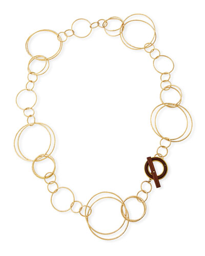 18k Acacia Wood Necklace