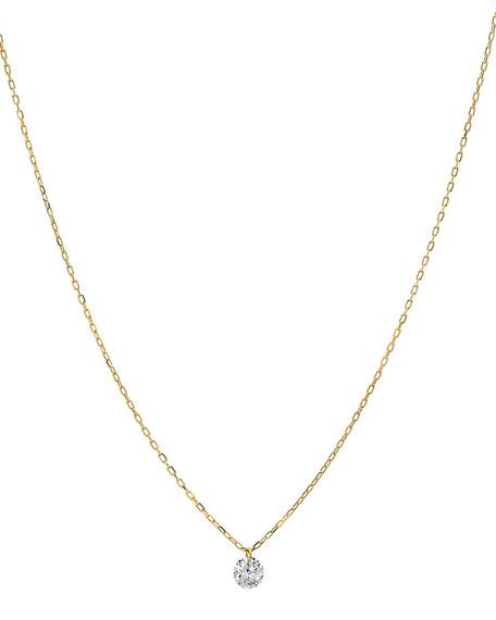 Nicha Jewelry 18k Floating Diamond Pendant Necklace