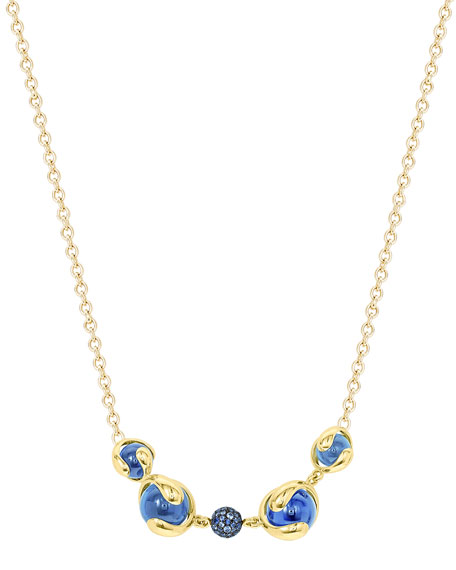 Image 2 of 2: Marina B 18k Gold Mixed-Stone Station Necklace