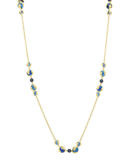 Image 1 of 2: Marina B 18k Gold Mixed-Stone Station Necklace