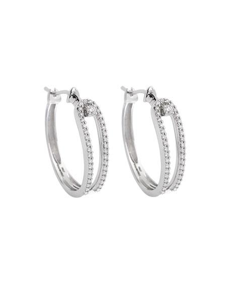 ISTANBOULLI GIOIELLI Anima 18k White Gold Looped Diamond Hoop Earrings