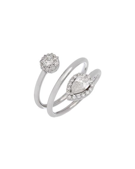 ISTANBOULLI GIOIELLI Positano 18k White Gold Coiled Diamond Ring, Size 7