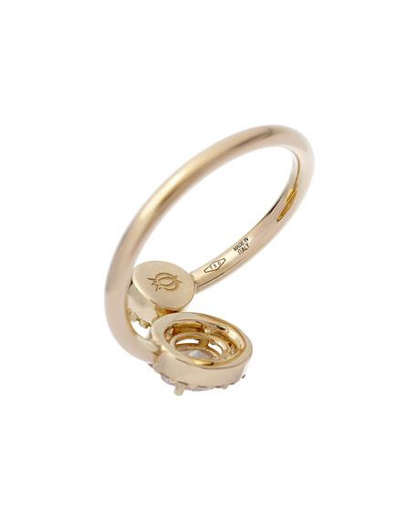 ISTANBOULLI GIOIELLI 18k Positano Diamond Bypass Ring, Size 5