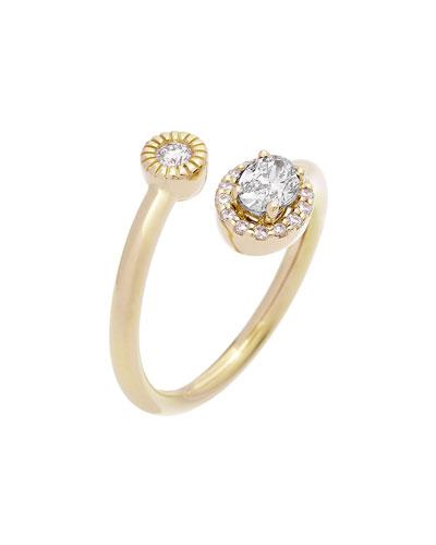 18k Positano Diamond Bypass Ring  Size 5