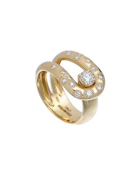 ISTANBOULLI GIOIELLI Anima 18k Diamond Loop Ring, Size 7