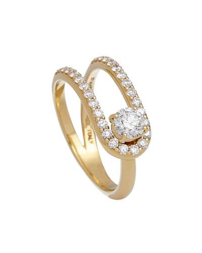 Anima 18k Looped Diamond Ring  Size 5.5