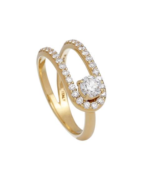 ISTANBOULLI GIOIELLI Anima 18k Looped Diamond Ring, Size 5.5