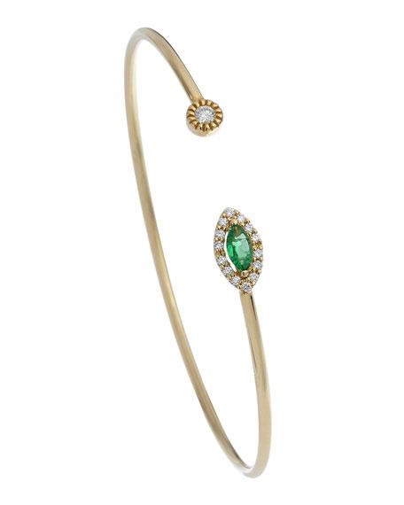 ISTANBOULLI GIOIELLI Positano 18k Diamond & Emerald Bracelet