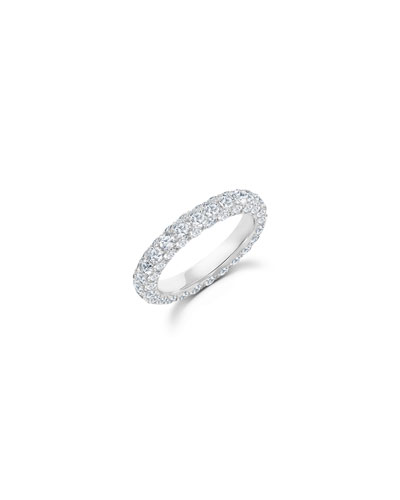 18k White Gold Diamond 3-Sided Ring  Size 7