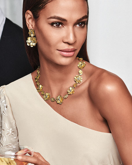 Marco Bicego 18k Petali Collar Necklace w/ Diamonds