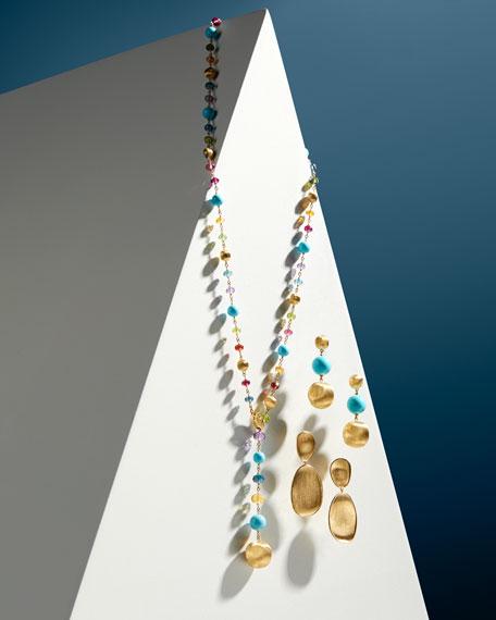 Marco Bicego Africa 18k Mixed-Stone Lariat Necklace w/ Diamonds