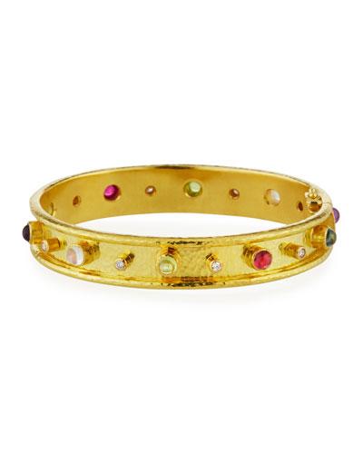 Tutti Frutti 19k Bangle Bracelet