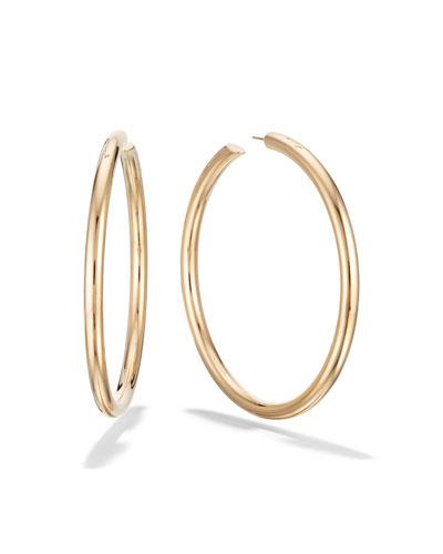 14k Gold Royal Hoop Earrings